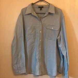 LRL jean long sleeve button up